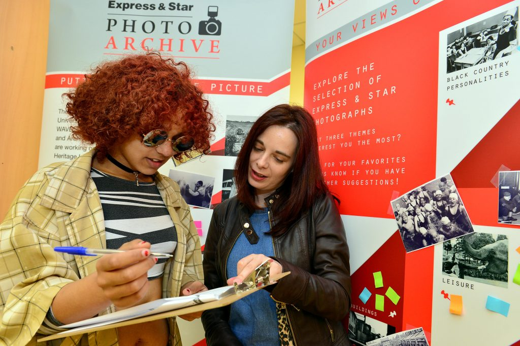 A survey respondent gives their views on the Express & Star photo project as part of public consultation