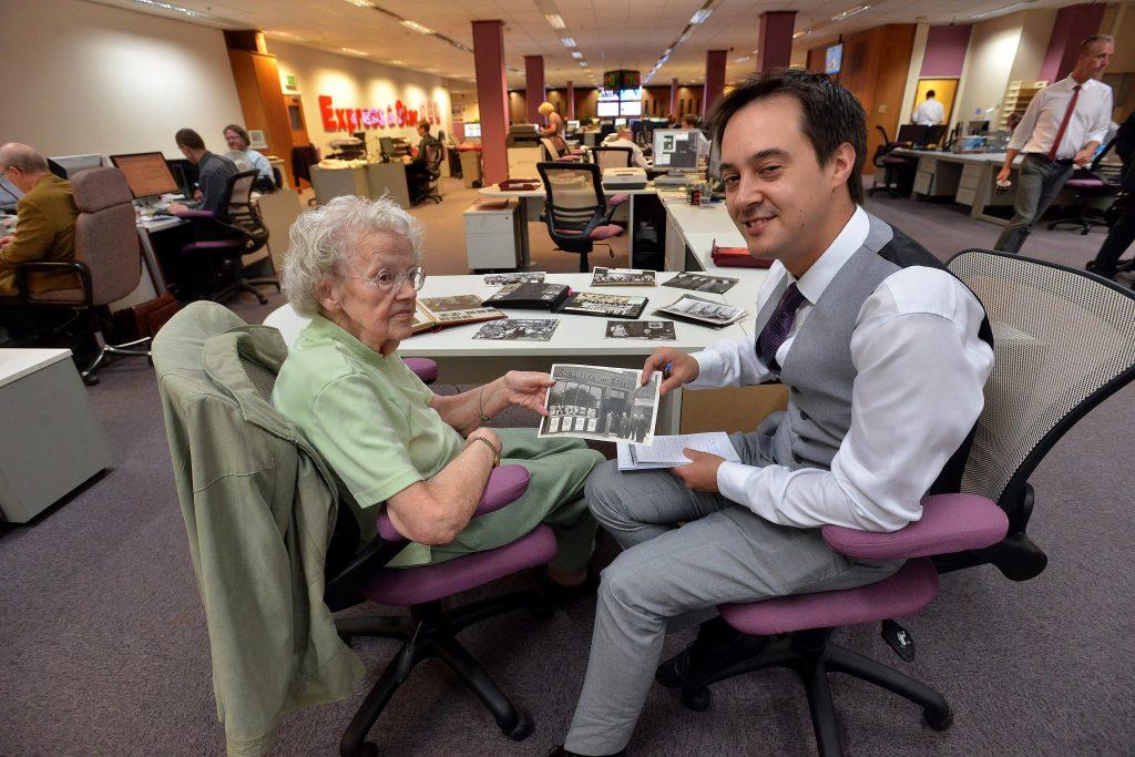 Hazel Jones visits the Express & Star in 2014
